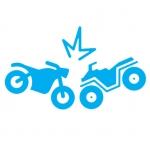 Oštećeni motocikli skuteri atv